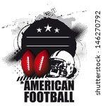 grunge american football shield | Shutterstock .eps vector #146270792