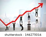 teamwork and corporate profit... | Shutterstock . vector #146275016
