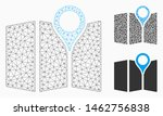 mesh paper map model with... | Shutterstock .eps vector #1462756838