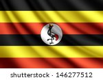 waving flag of uganda  vector | Shutterstock .eps vector #146277512