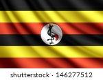 waving flag of uganda  vector | Shutterstock .eps vector #146277512