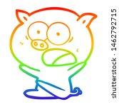 Rainbow Gradient Line Drawing...