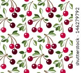 seamless pattern with cherry.... | Shutterstock .eps vector #146279792