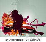 fast and hot | Shutterstock .eps vector #14628406