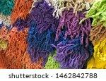closeup fabric colorful texture....   Shutterstock . vector #1462842788