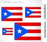 puerto rico flag template  ... | Shutterstock .eps vector #146284802