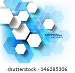 abstract design hexagonal...