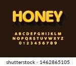 font. modern honey 3d bold font ...   Shutterstock .eps vector #1462865105