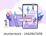 e book and electronic library... | Shutterstock .eps vector #1462867658