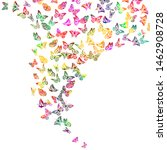 a lot of flying butterflies.... | Shutterstock .eps vector #1462908728