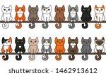 various sitting cats seamless... | Shutterstock .eps vector #1462913612
