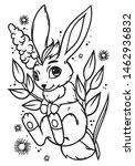cute little bunny.  vector... | Shutterstock .eps vector #1462936832