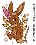 cute little bunny.  vector... | Shutterstock .eps vector #1462936835