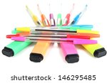 pens and markers of various... | Shutterstock . vector #146295485
