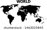 vector map of world with title. ... | Shutterstock .eps vector #1463025845