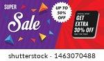 modern super sale banner ... | Shutterstock .eps vector #1463070488