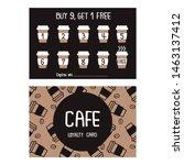 card buy 9  get 1 free... | Shutterstock .eps vector #1463137412