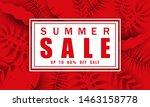 summer sale banner template... | Shutterstock .eps vector #1463158778