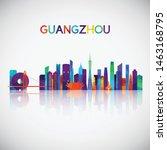 guangzhou skyline silhouette in ...   Shutterstock .eps vector #1463168795