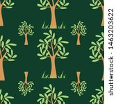 tree seamless pattern print... | Shutterstock . vector #1463203622