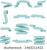 pastel blue ribbon set... | Shutterstock .eps vector #1463211422