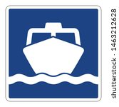 ferry pier traffic sign vector... | Shutterstock .eps vector #1463212628