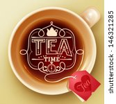 tea time design template | Shutterstock .eps vector #146321285