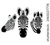 zebra head wallpaper... | Shutterstock . vector #1463227778
