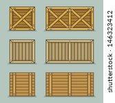 wooden boxes | Shutterstock .eps vector #146323412
