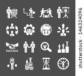 business and financial icons... | Shutterstock .eps vector #146324096