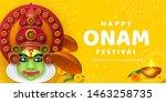 onam festival background for... | Shutterstock .eps vector #1463258735