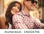 close up of loving couple... | Shutterstock . vector #146326706