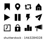 social media ui icon set glyph...