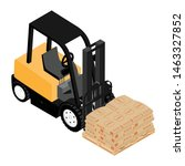 forklifts  reliable heavy... | Shutterstock .eps vector #1463327852