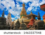 Swayambhunath Stupa Along With...