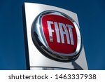 Small photo of Berlin, Germany - June 30, 2019: Fiat car dealership signboard. Fiat is Italy's largest auto maker. From the beginning Fiat logo had alphabets F-I-A-T standing for Fabbrica Italiana Automobili Torino