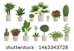 set of decorative houseplants... | Shutterstock .eps vector #1463343728