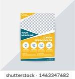 modern business flyer with ...   Shutterstock .eps vector #1463347682