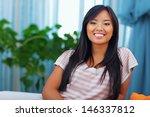 beautiful asian woman in casual ... | Shutterstock . vector #146337812