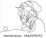 continuous single drawn one... | Shutterstock . vector #1463378192