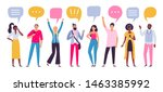 communicating people. chat...   Shutterstock .eps vector #1463385992