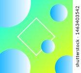 trendy geometric gradient... | Shutterstock .eps vector #1463403542