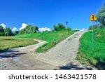 Uphill Climb  Dirt Road On...