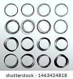 big set of hand drawn circles...   Shutterstock .eps vector #1463424818