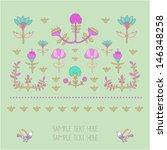 vintage floral decor. all... | Shutterstock .eps vector #146348258