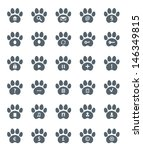 traces of cat icons set. vector ... | Shutterstock .eps vector #146349815