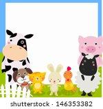 Farm Animal And Frame
