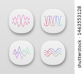 sound waves app icons set. ui...