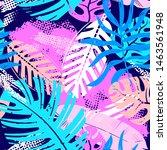 abstract seamless tropical... | Shutterstock . vector #1463561948