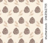 Seamless Pattern Pine Cone...